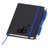 Small Noir Notebook (Curvy) in blue-deboss