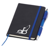 Small Noir Notebook (Curvy) in blue-screen