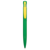 Harlequin Ballpen in green-yellow-clip