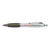 Branded Curvy Pens in silver-and-charcoal