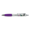 Branded Curvy Pens in silver-and-purple