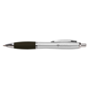 Metal Curvy Ballpen in silver-and-black
