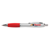 Metal Curvy Ballpen in silver-and-red