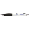 Metal Curvy Ballpen in white-and-black