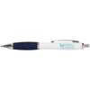 Metal Curvy Ballpen in white-and-blue