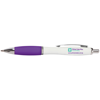 Metal Curvy Ballpen in white-and-purple