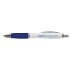 White Curvy Ballpen in white-and-blue