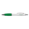 White Curvy Ballpen in white-and-green
