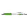 White Curvy Ballpen in white-and-lime