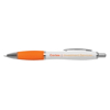 White Curvy Ballpen in white-and-orange