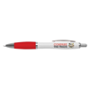 White Curvy Ballpen in white-and-red
