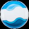 Wave Sharpener & Eraser in blue-white