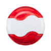 Wave Sharpener & Eraser in white-and-red