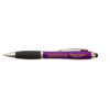 Curvy Stylus Ballpen in purple-and-black