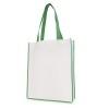 Large Contrast Shopper in green