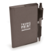 A7 PVC Notepad and Pen in black