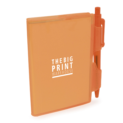 A7 PVC Notepad and Pen in orange