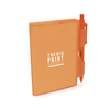 A7 PVC Notepad and Pen in orangea