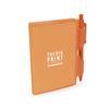 A7 PVC Notepad and Pen in orangeb