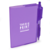 A7 PVC Notepad and Pen in purple