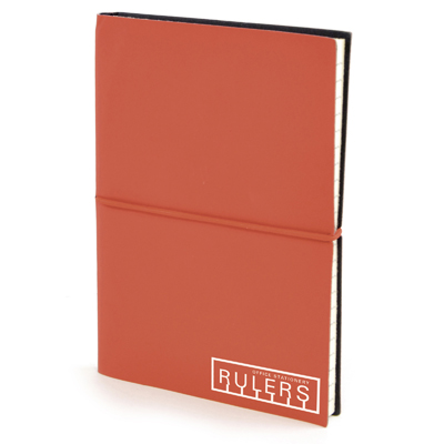 A6 Centre Notebook in red