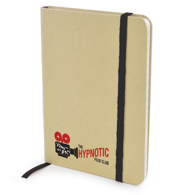 A6 Natural notepad in black