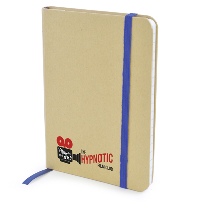 A6 Natural notepad in blue