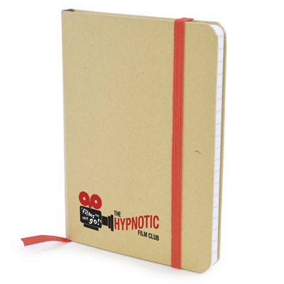 A6 Natural notepad in red