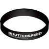 Silicone Wristband With Aluminium Patch in black
