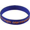 Silicone Wristband With Aluminium Patch in blue