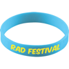 Silicone Wristband With Aluminium Patch in light-blue
