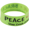 Silicone Wristband With Aluminium Patch in light-green
