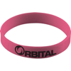 Silicone Wristband With Aluminium Patch in magenta