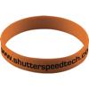 Silicone Wristband With Aluminium Patch in orange