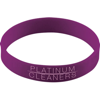Silicone Wristband With Aluminium Patch in purple