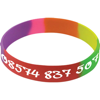 Silicone Wristband With Aluminium Patch in rainbow
