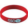 Silicone Wristband With Aluminium Patch in red