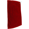 Golf Pro Towel Stitched in red