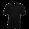 Pique Polo Shirt in black