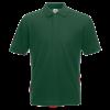 Pique Polo Shirt in bottle-green