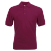 Pique Polo Shirt in burgandy