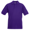 Kids Pique Polo Shirt in purple