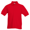 Kids Pique Polo Shirt in red