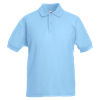 Kids Pique Polo Shirt in sky-blue