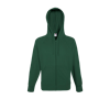 Lightweight Zip Hooded Sweatshirt in bottle-green
