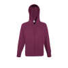 Lightweight Zip Hooded Sweatshirt in burgundy