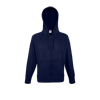 Lightweight Zip Hooded Sweatshirt in deep-navy