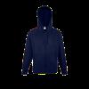 Lightweight Zip Hooded Sweatshirt in deep-navy