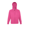 Lightweight Zip Hooded Sweatshirt in fuchsia