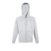 Lightweight Zip Hooded Sweatshirt in heather-grey